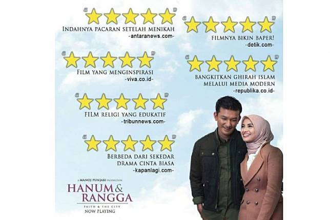 Antara Tidak Pernah Beri Rating Film Hanum & Rangga, Hanum, Rangga,Faith & The City,Hanum & Rangga, detik.com, viva.co.id, tribunnews.com, kapanlagi.com, republika.co.id ,antaranews.com